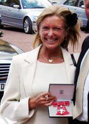 Jeanette Longfield receiving her MBE