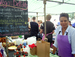Vegan Delights stall