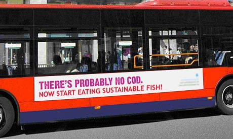 There's probably no cod - bus advertisement