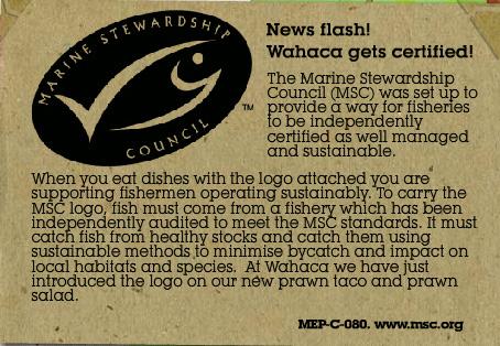 Wahaca sustainable fish policy