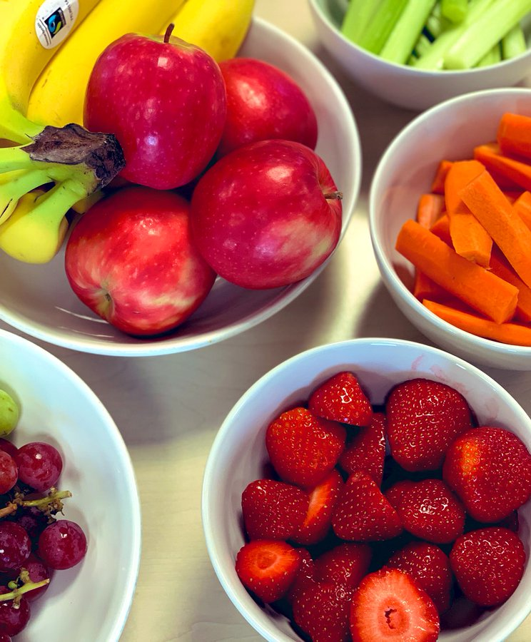 Healthy workplace snacks. Credit - The Foundry