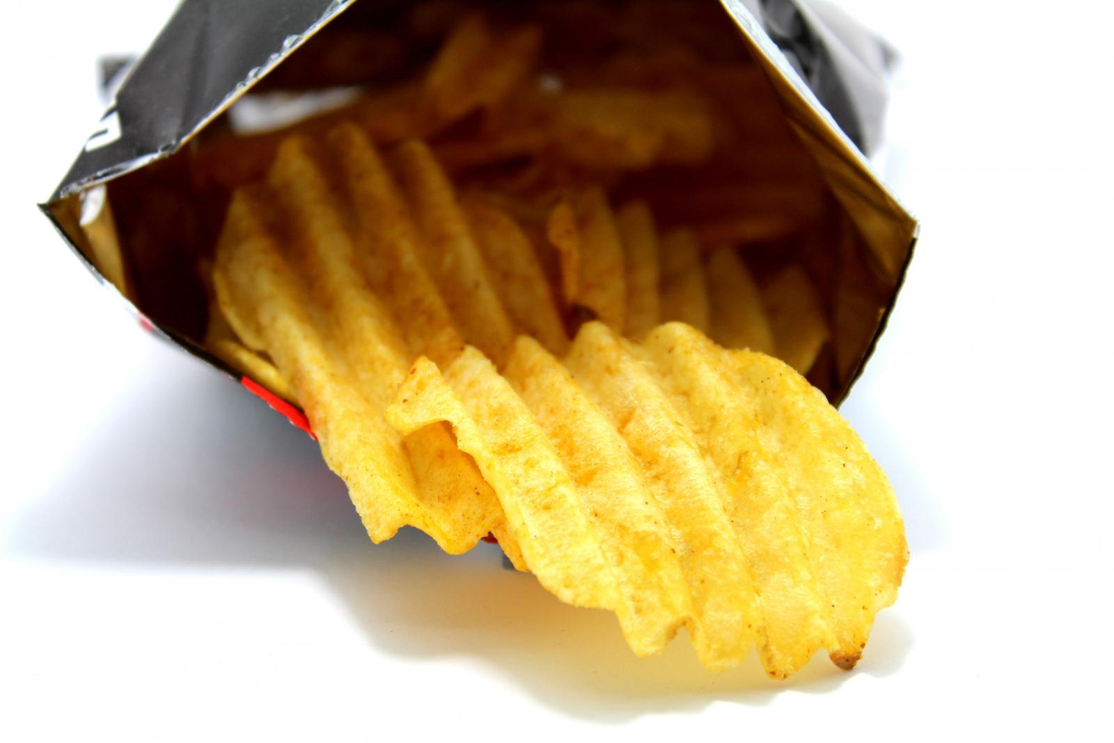 Packet of crisps. Photo credit: Pexels