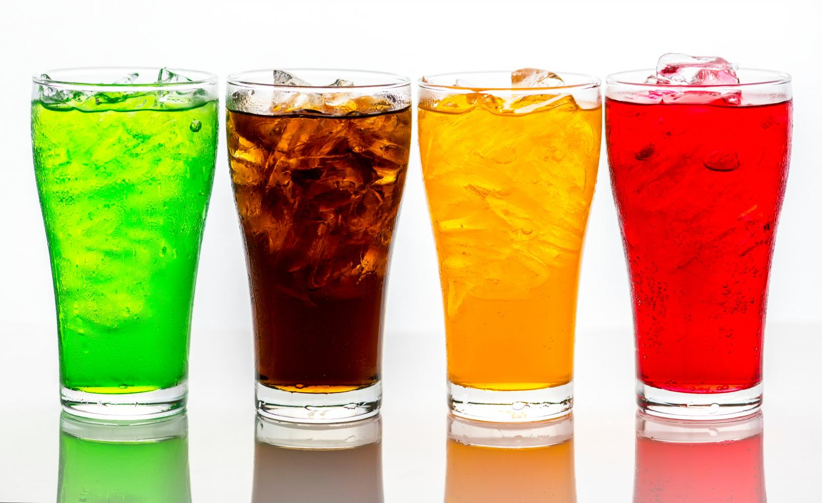 Assorted fizzy drinks. Photo credit: Pexels