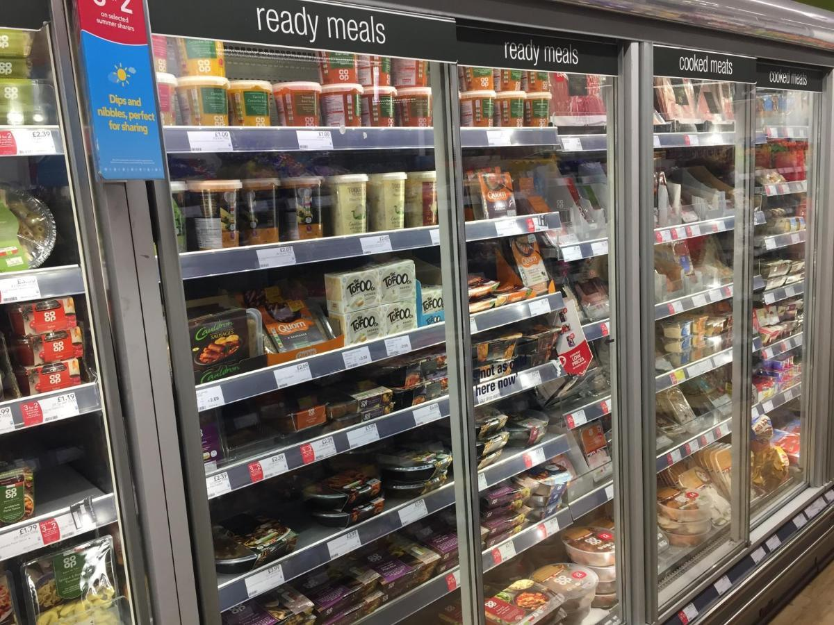 Supermarket shelves. Photo credit: Eating Better