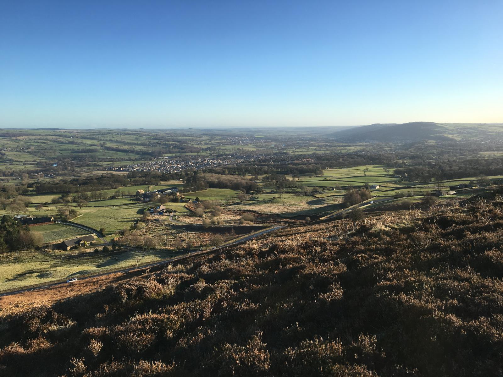 View over Ilkley Moor to the River Wharfe. Credit: James Woodward