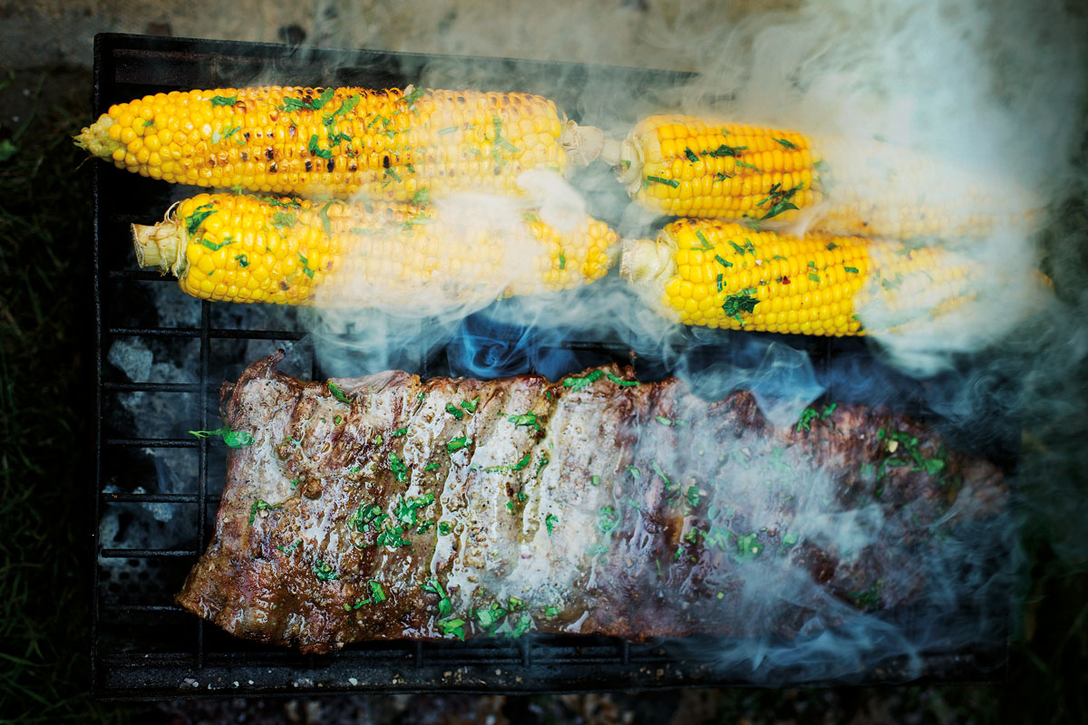 Bavette sweetcorn chimmichurri by Laura Edwards