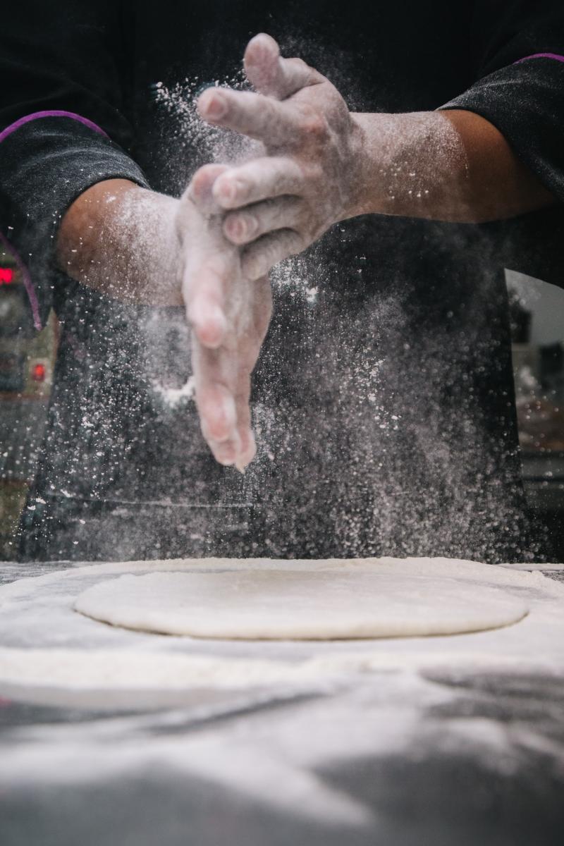 Baking bread. Photo credit: Pexels