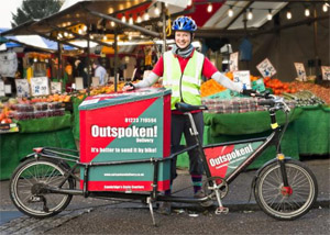 Outspoken Delivery picks up surplus food by bicycle to take it to the FoodCycle charity