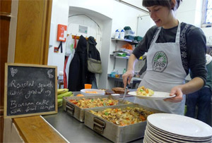 Foodcycle serving food that would otherwise have gone to waste