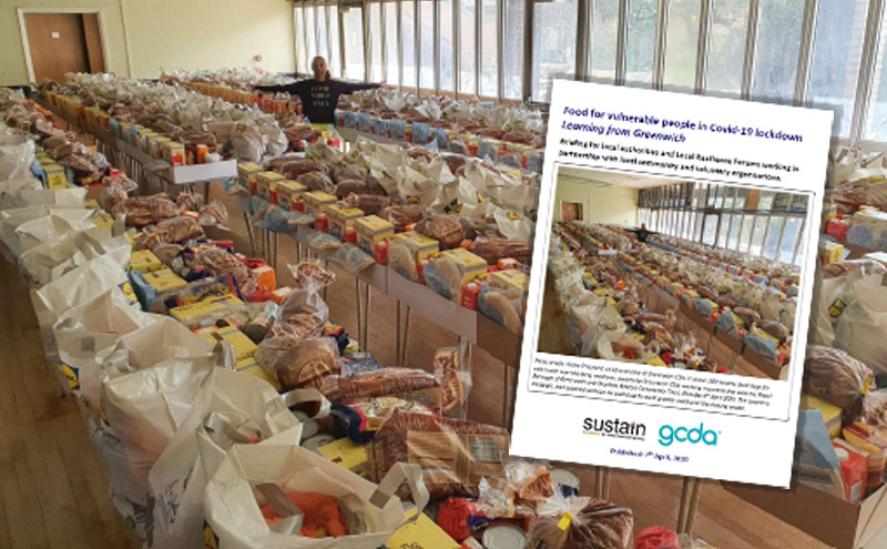 Photo credit: Claire Pritchard, chief executive of Greenwich CDA. It shows healthy Food Boxes for vulnerable non-shielding residents in Greenwich