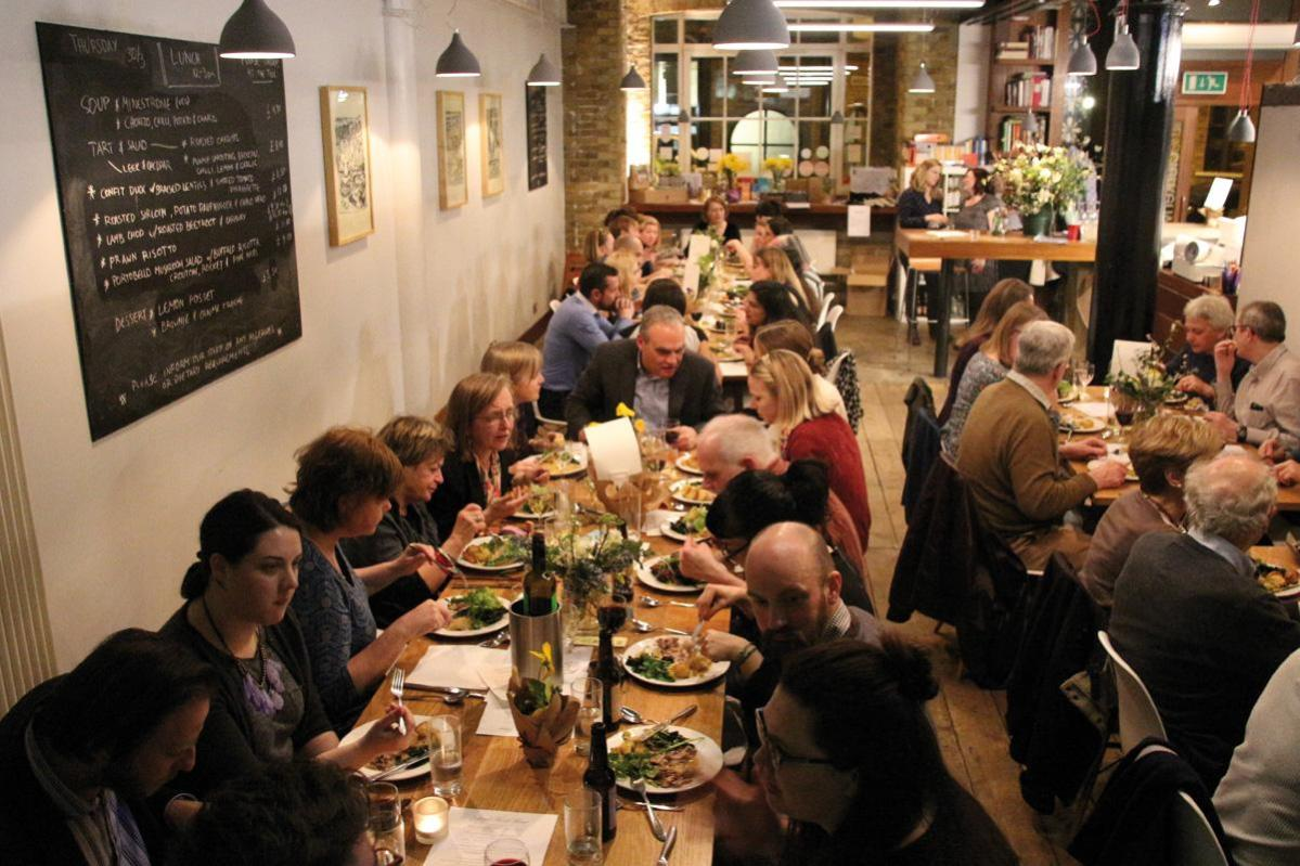 London Food Link's Local Food Feast at The Clerkenwell Kitchen by Chris Young