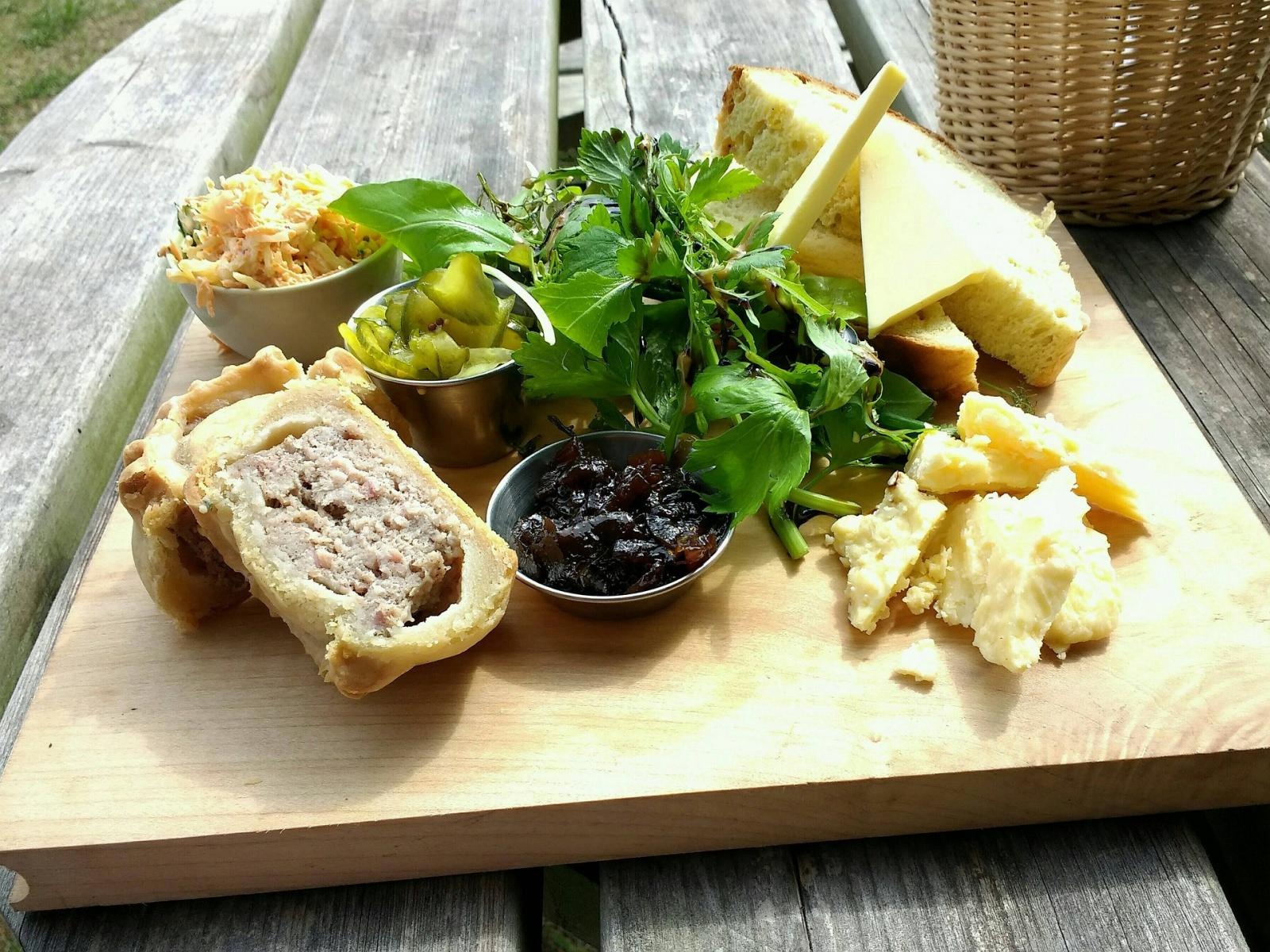 Pork pie and salad. Photo credit: Pixabay