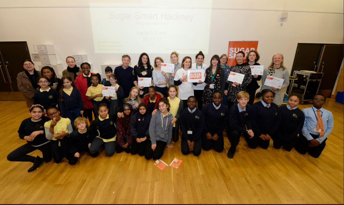 8131b46a The SUGAR SMART Hackney launch was supported by Angela Church, a former  resturant chef turned head chef at Mandeville Primary School, and local  Cllr ...