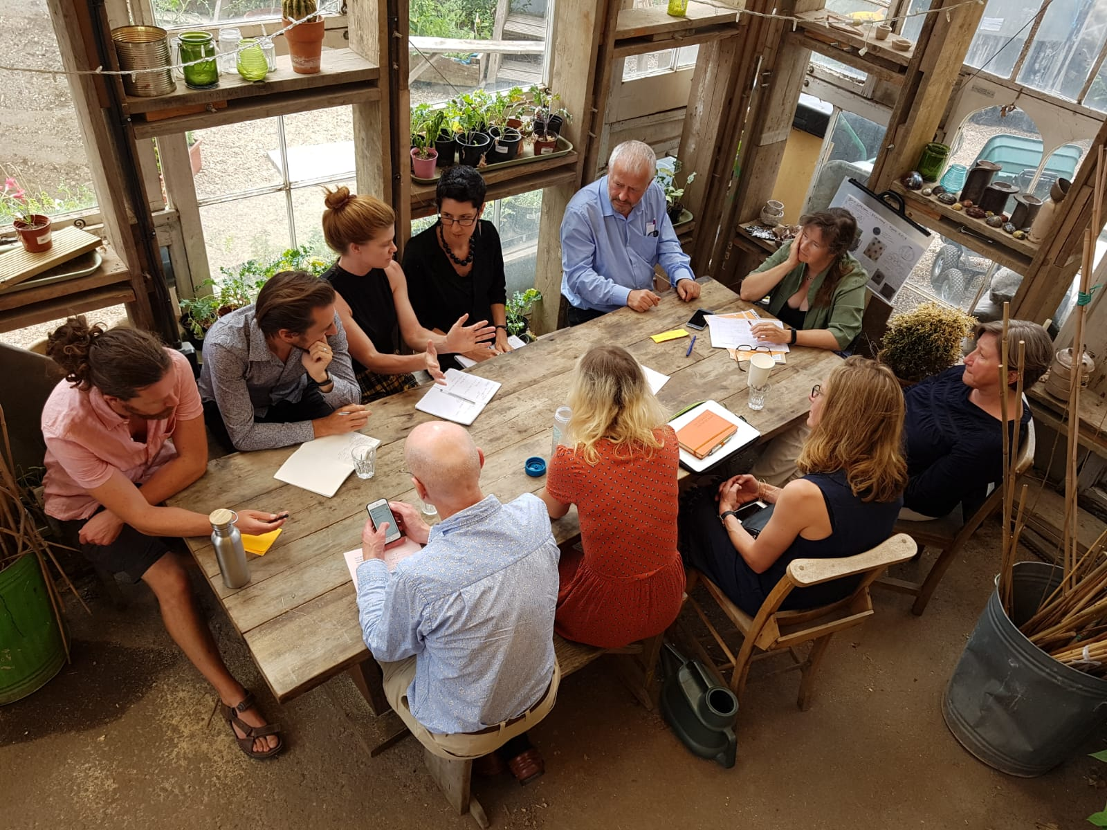 Sustain staff and trustees take part in a Strategy Day, 2018. Photo credit: Kath Dalmeny