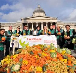 FareShare participating in Feeding the 5,000 in Trafalgar Square