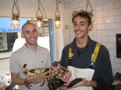 Sustainable fish at Fin and Flounder, Broadway Market, Hackney