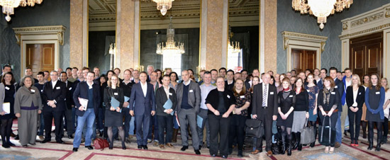 Delegates at Fishmongers Hall in London - venue for the Sustainable Fish Forum 2012