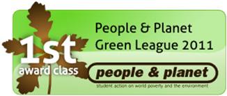 People & Planet Green League 2011
