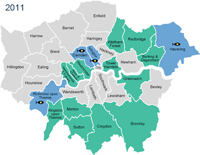 London Borough progress on sustainable fish, 2011