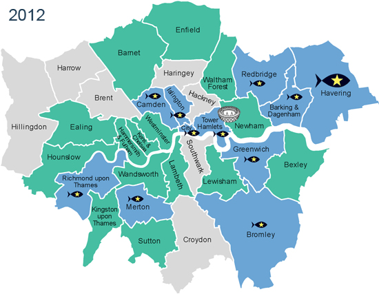 london boroughs taking action on sustainable fish 2012