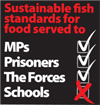 Take action to support sustainable fish standards for food in schools