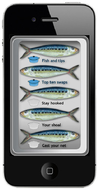 Sustainable Fish City iPhone app sardines in tin