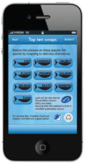Sustainable Fish City iPhone app screenshot