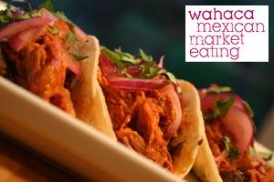Wahaca Mexican market eating