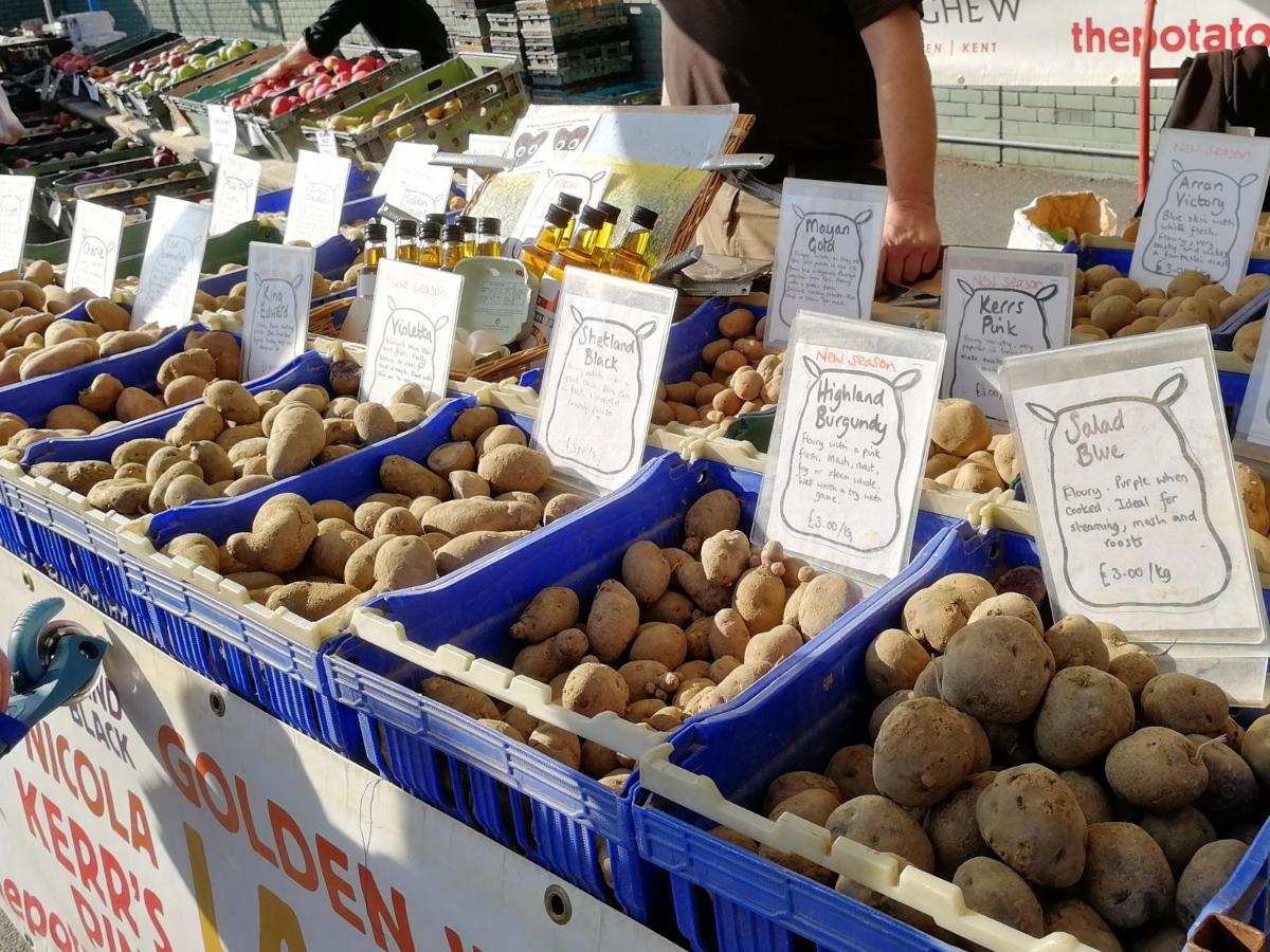 Potato stall, London market credit: V Hird