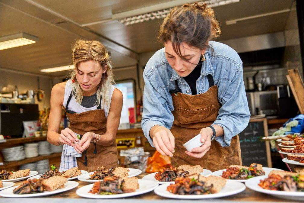 Sadbhb Moore and Abi Glencross of the Sustainable Food Story