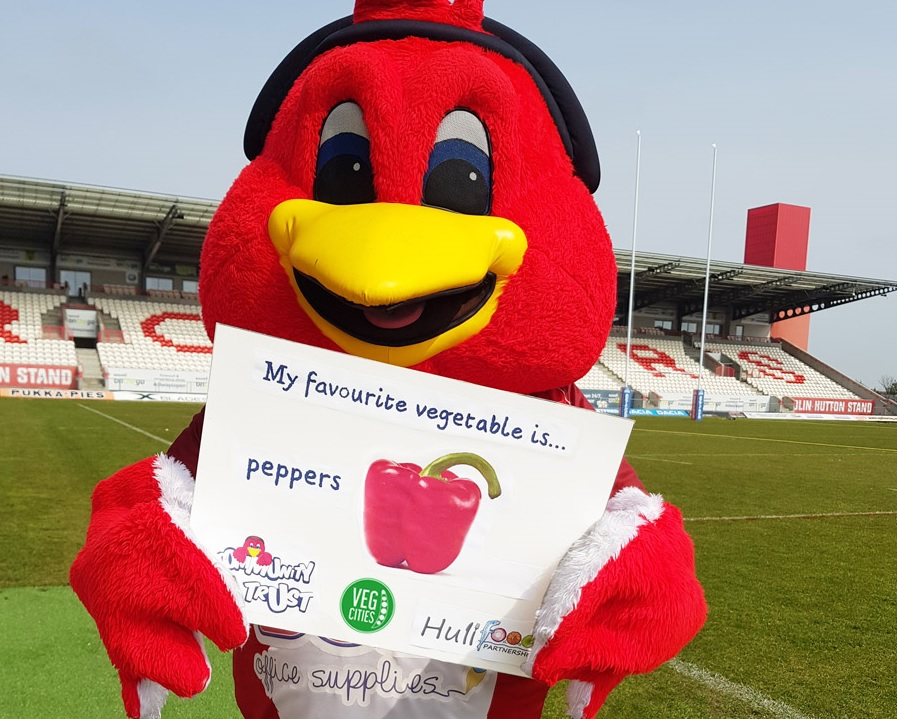 Mascot Rufus the Robin. Credit: Hull Kingston Rovers