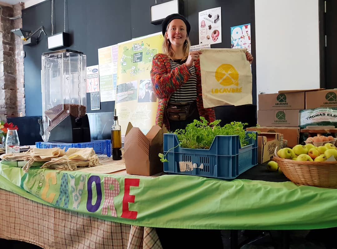 Locavore stall at producer market in Glasgow. Credit: Locavore