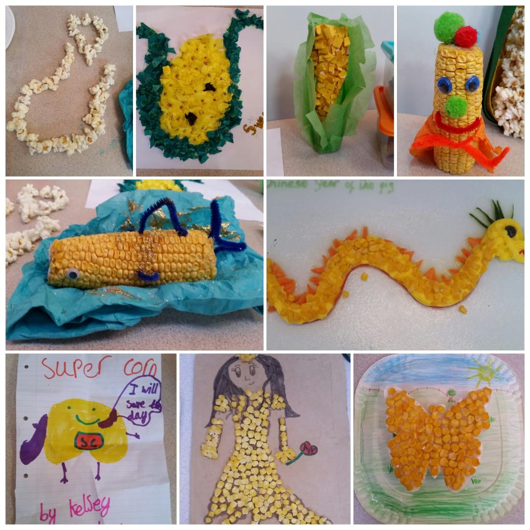 Some of the creations during sweet corn week. Credit: Pip Moreton