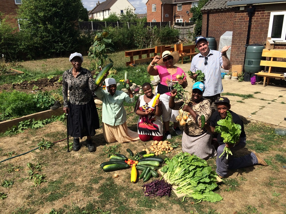 Volunteers at community garden at Farley. Credit: Groundwork Luton & Bedfordshire