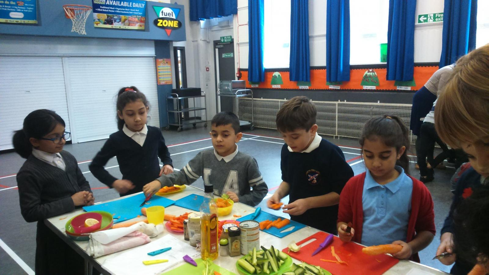The 'Veg Cities Roadshow' visited ten schools in Glasgow. Credit: Glasgow Community Food Network