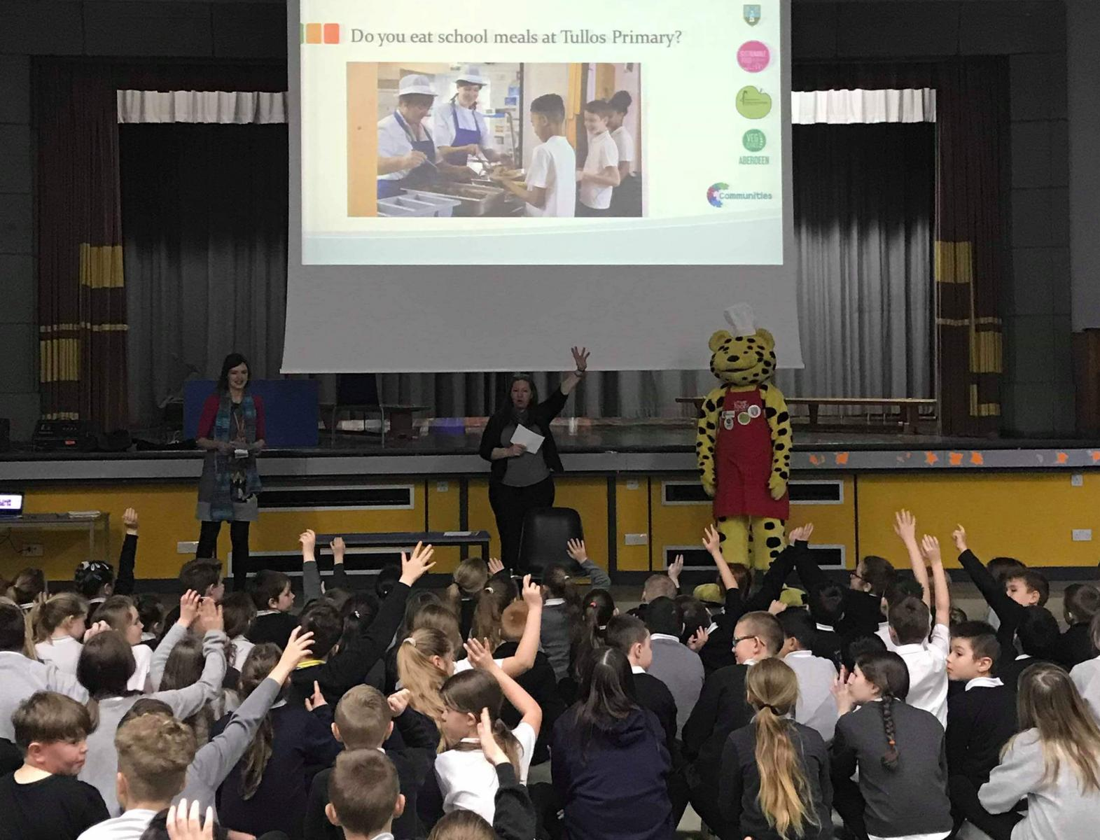 To kick-off the project, CFINE and the City Council Communities Team held an assembly with the whole school. Credit: CFINE