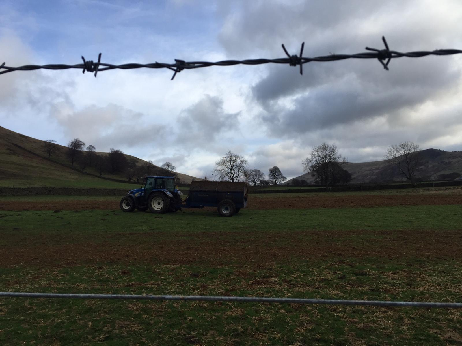Farmland scene, Derbyshire. Photo credit: Kath Dalmeny