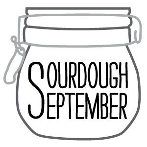 Sourdough September logo from the Real Bread Campaign - click for more information about what's on