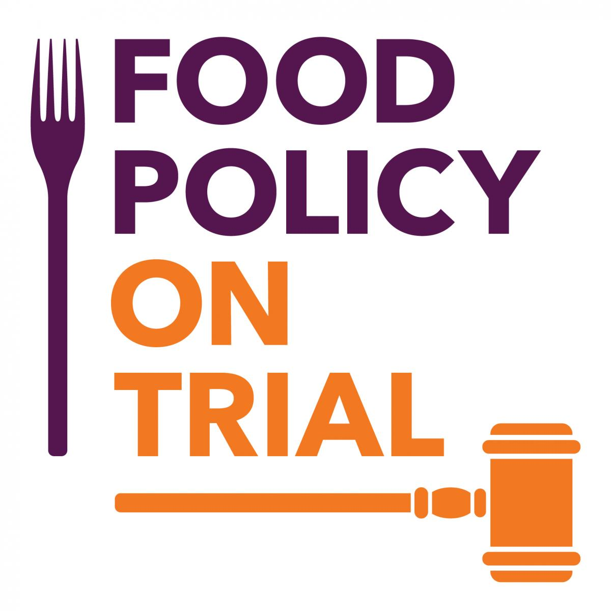 Food Policy on Trial logo. Photo credit: Food Ethics Council