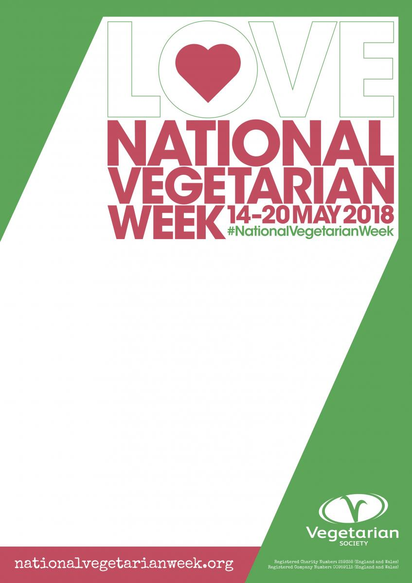 National Vegetarian Week poster credit: The Vegetarian Society