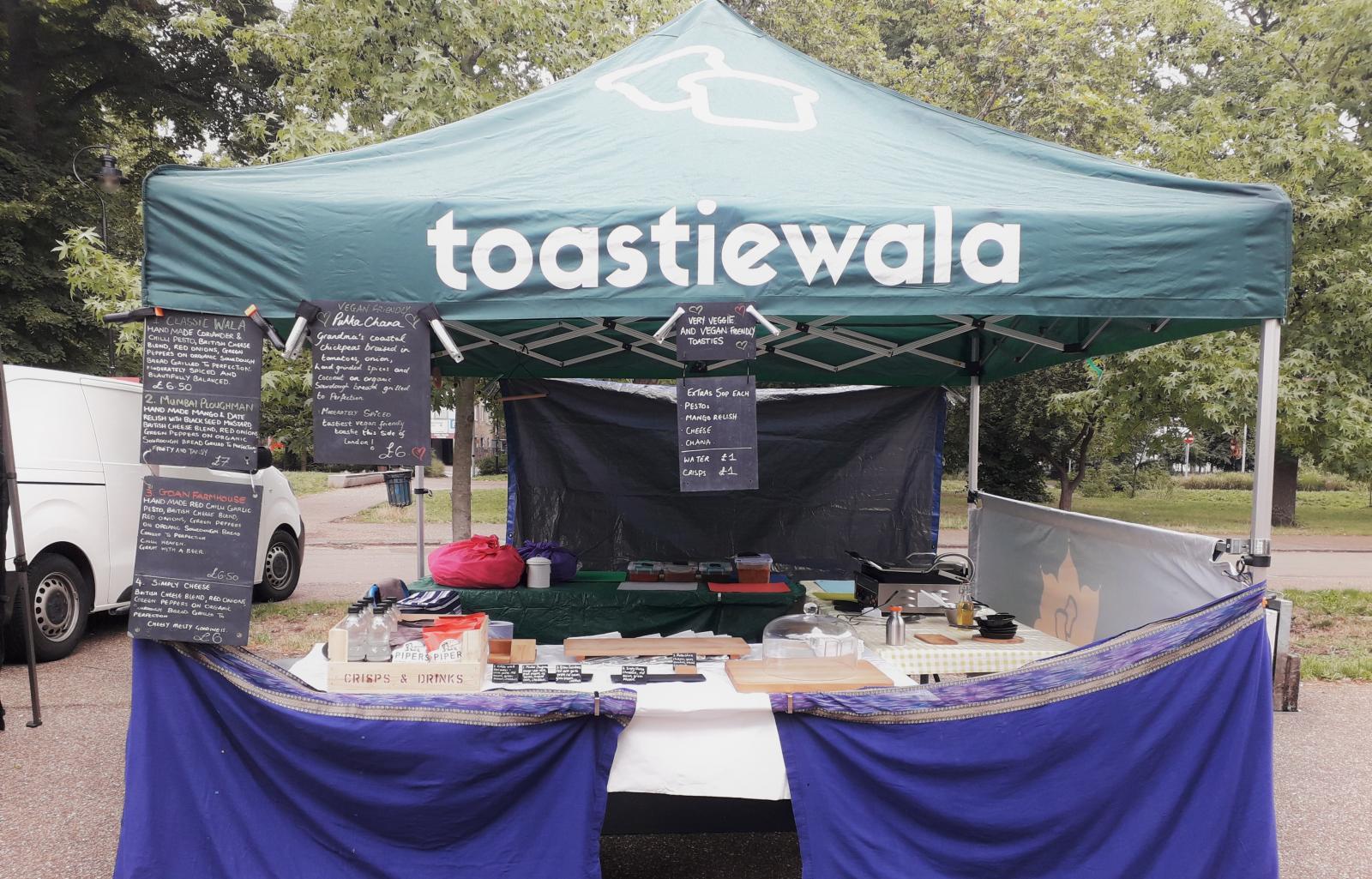 Toastiewala's market stall, taken by Farah Ebrahem