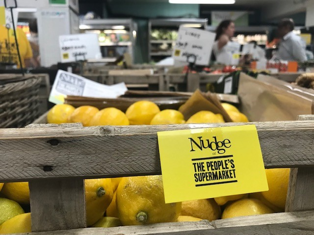 New 'nudge' labels at The People's Supermarket