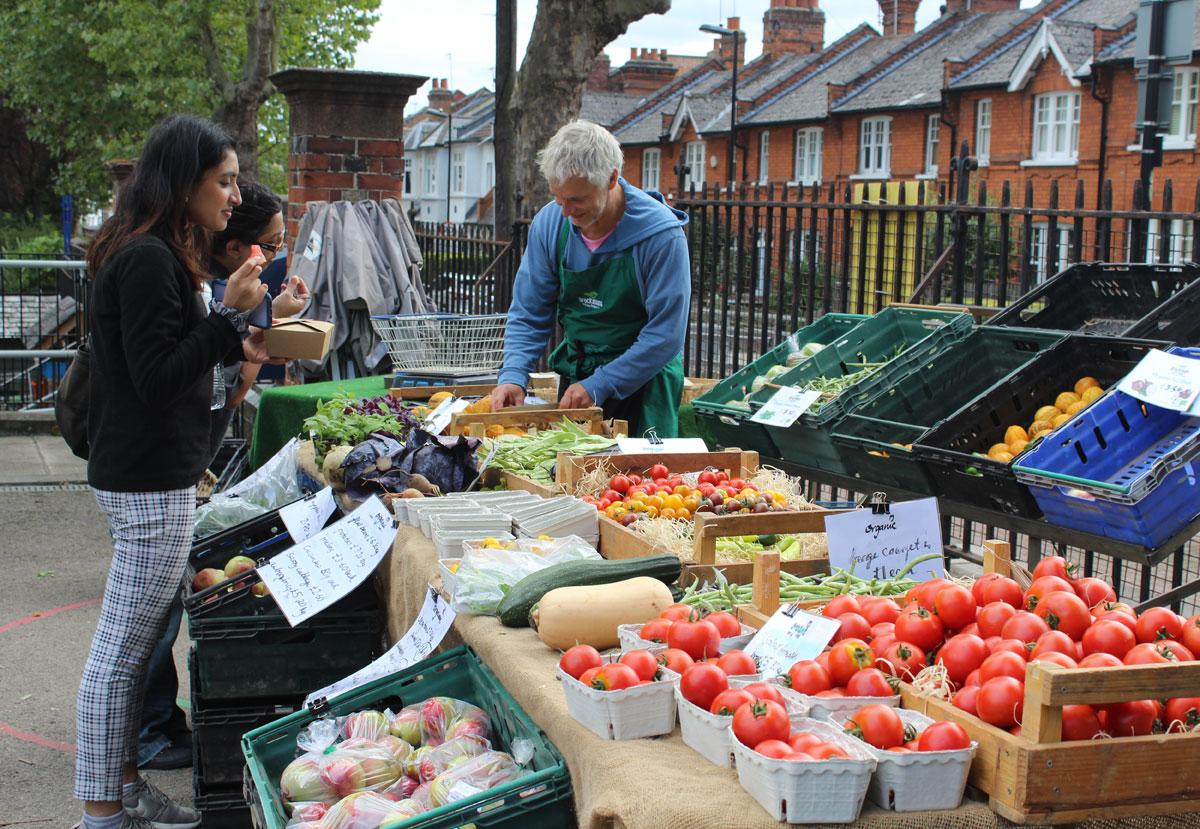 Alexandra Palace Farmer's Market, London. Credit Merav Shub