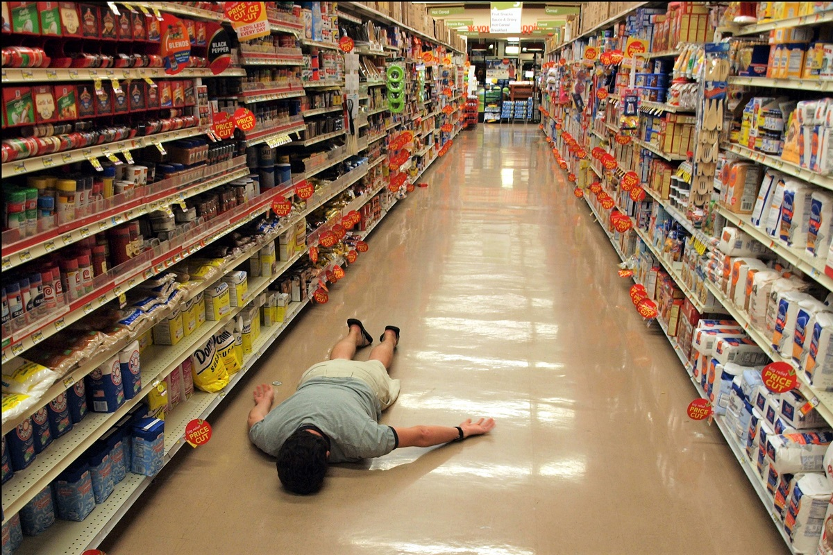 Floored? Jerry in the sugar aisle face down by TheeErin CC-BY-SA-2.0