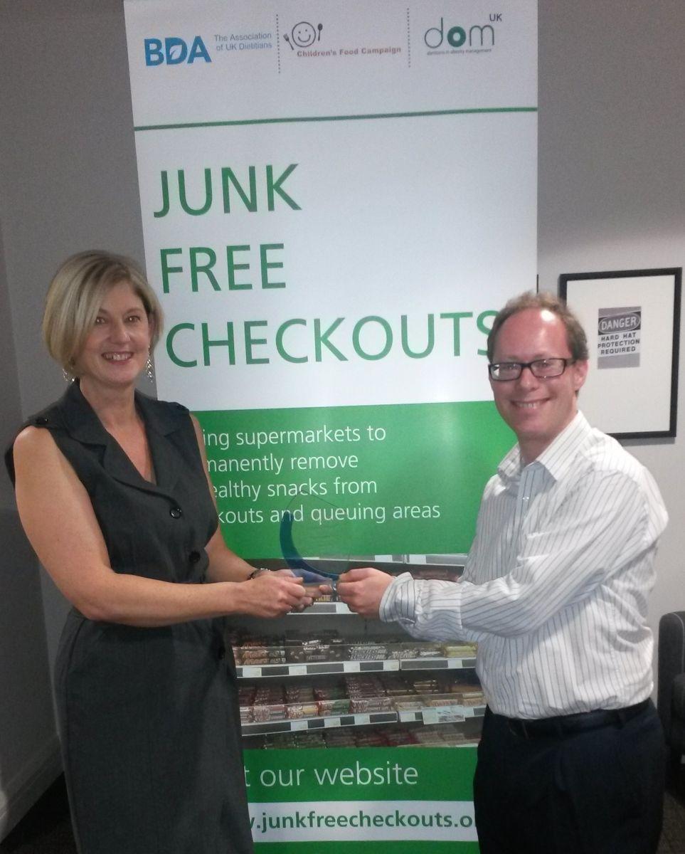 Junk Free Checkouts campaign award