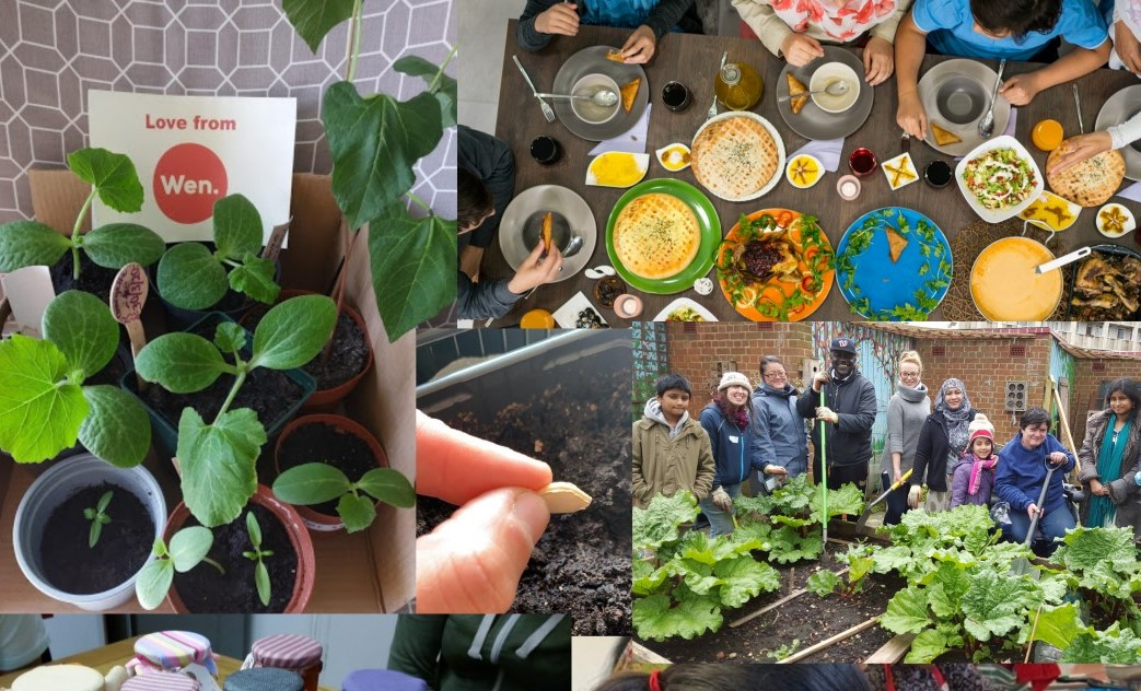 A snapshot of some of the community projects in Tower Hamlets. Credit: Women's Environmental Network