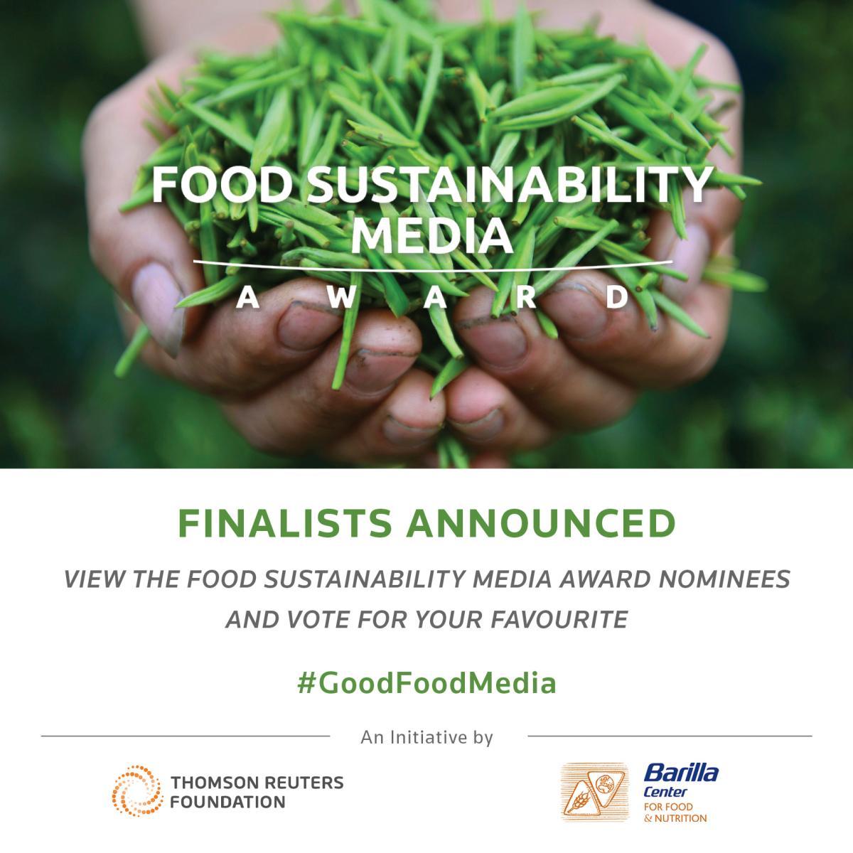 Image credit: Food Sustainability Media Awards
