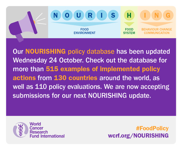 NOURISHING. Image credit: World Cancer Research Fund International