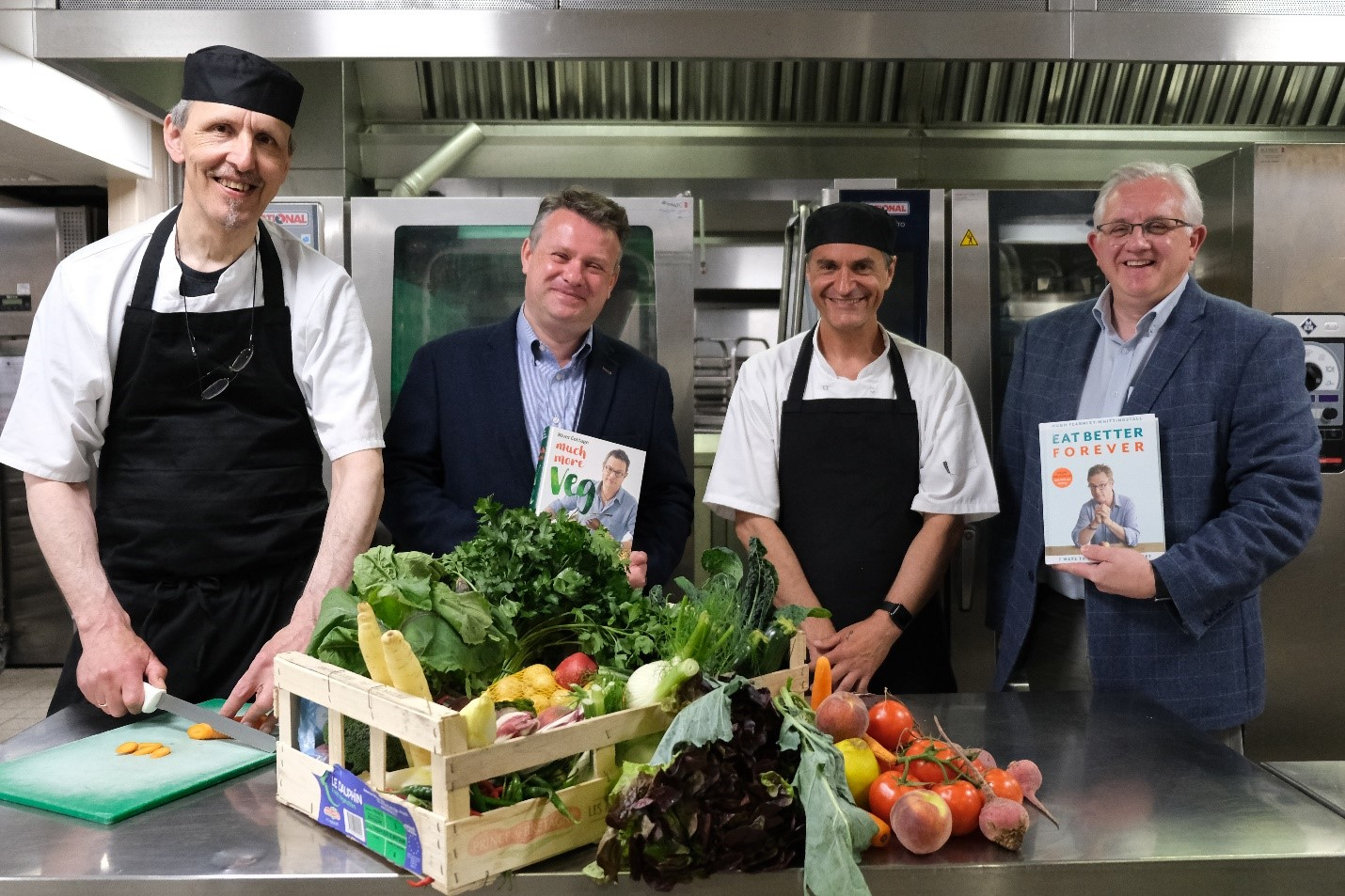 The catering team receiving the Peas Please Rising Star award. Credit: Ian Macaulay