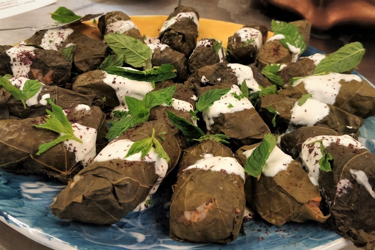 Stuffed vine leaves, courtesy of Enfield City Council